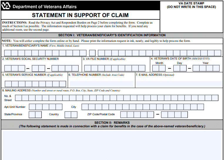 VA Form 21-4138 Explained: Statement in Support of Claim